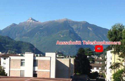 Soft-Mail IT AG WebCam Giubiasco Richtung UNESCO-Kulturerbe 3 Castelli di Bellinzona